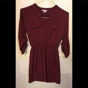 Ardene l Burgundy Midi Dress